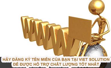 Dịch vụ cung cấp tên miền quốc tế và Việt Nam | Viet Solution