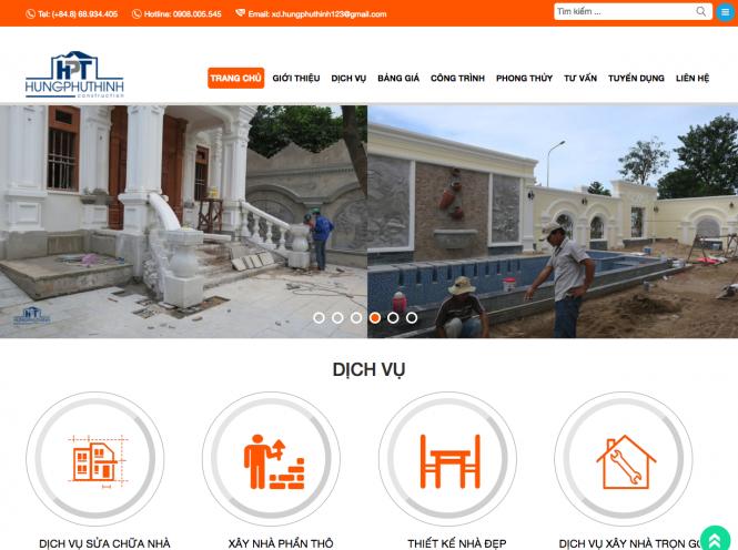 Thiết kế website - Hưng Phú Thịnh