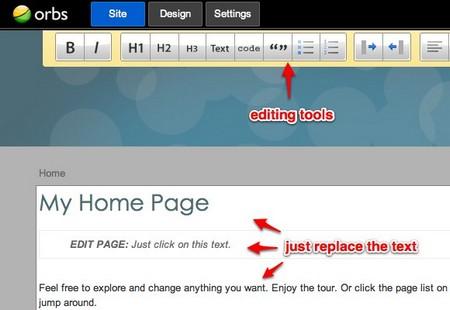 Cách tự thiết kế website nhanh chóng ORBS - Hình 2