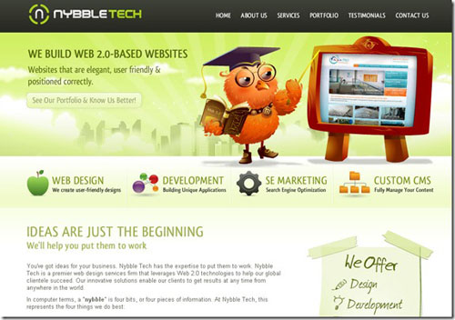 Thiết kế website đẹp - mẫu 7