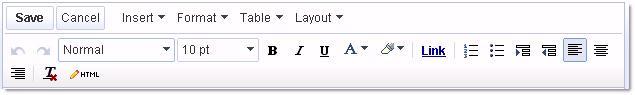 Thiết kế web miễn phí với Google - Bộ soạn thảo