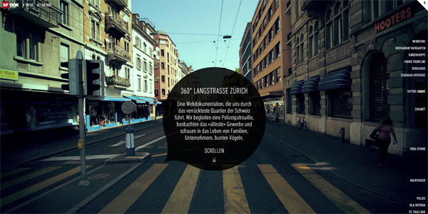 Mẫu thiết kế web sáng tạo 2011 - 360langstrasse.sf.tv