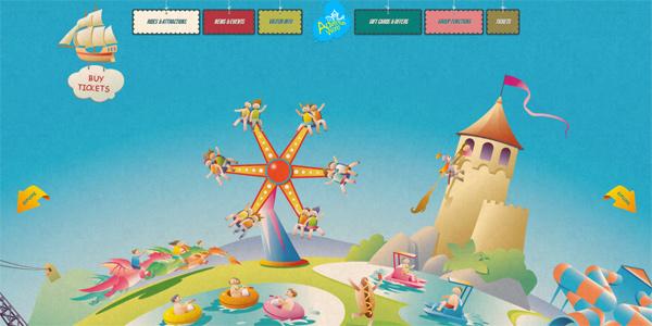 Mẫu thiết kế web sáng tạo 2011 - Adventureworld.ourentry.com.au