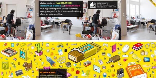 Mẫu thiết kế web sáng tạo 2011 - Ala.ch