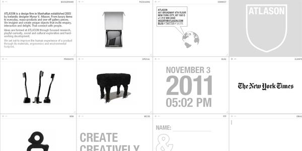 Mẫu thiết kế web sáng tạo 2011 - Atlason.com