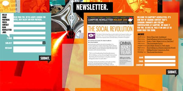 Mẫu thiết kế web sáng tạo 2011 - Campfirenyc.com