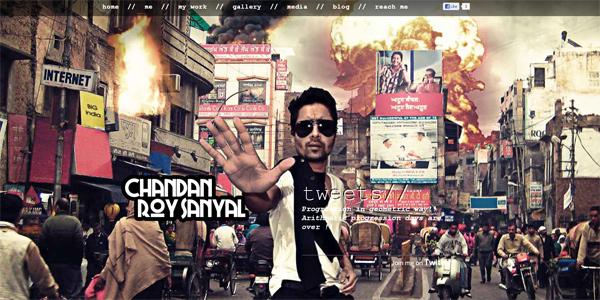 Mẫu thiết kế web sáng tạo 2011 - Chandanroysanyal.com