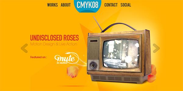 Mẫu thiết kế web sáng tạo 2011 - Сmyk08.be