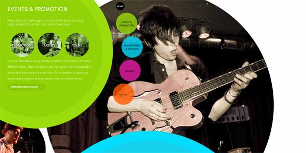 Mẫu thiết kế web sáng tạo 2011 - Curiousgenerationgroup.com