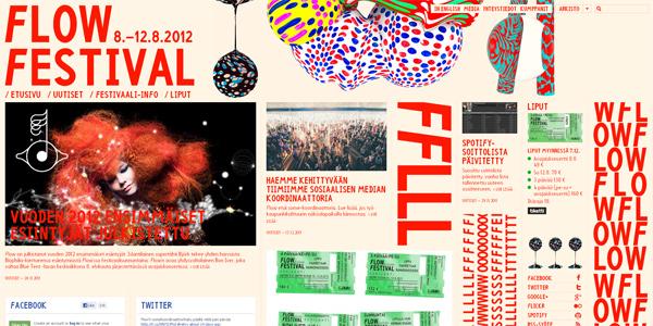 Mẫu thiết kế web sáng tạo 2011 - Flowfestival.com