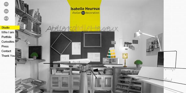 Mẫu thiết kế web sáng tạo 2011 - Isabelleheureux.com