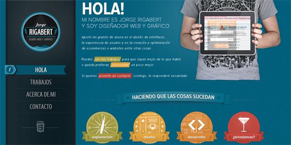 Mẫu thiết kế web sáng tạo 2011 - Jorgerigabert.com