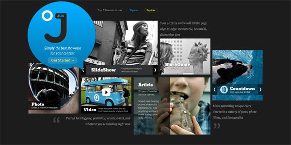 Mẫu thiết kế web sáng tạo 2011 - Jux.com