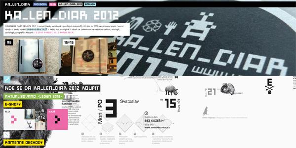 Mẫu thiết kế web sáng tạo 2011 - Kalendiar.lenm.cz