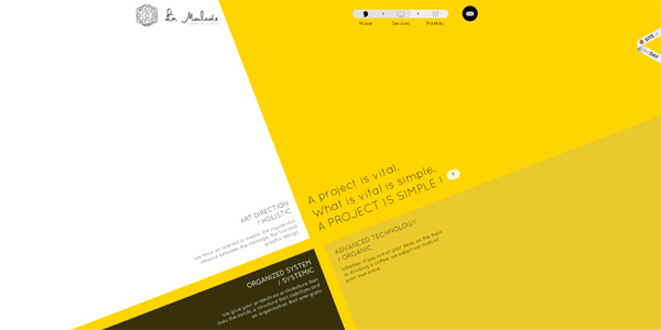 Mẫu thiết kế web sáng tạo 2011 - Lamoulade.com