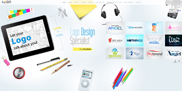 Mẫu thiết kế web sáng tạo 2011 - Logotime.com