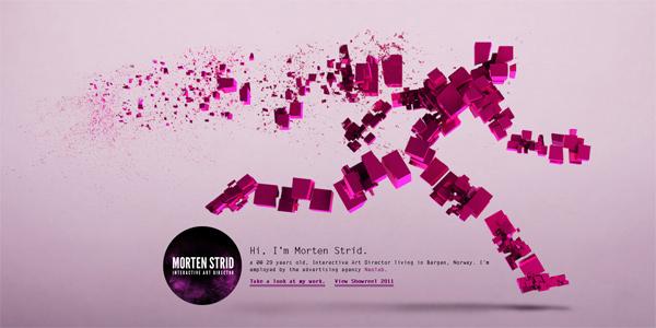 Mẫu thiết kế web sáng tạo 2011 - Mortenstrid.no