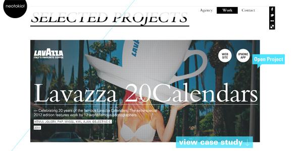 Mẫu thiết kế web sáng tạo 2011 - Neotokio.it
