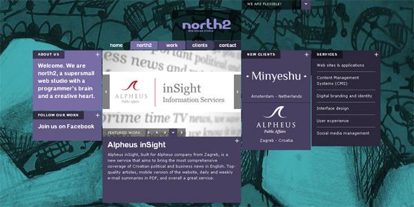 Mẫu thiết kế web sáng tạo 2011 - North2.net