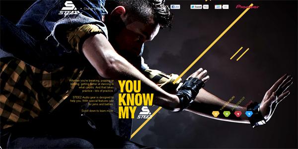Mẫu thiết kế web sáng tạo 2011 - Pioneer-steez.com