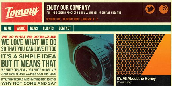 Mẫu thiết kế web sáng tạo 2011 - Thisistommy.com