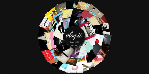 Mẫu thiết kế web sáng tạo 2011 - Vlog.it